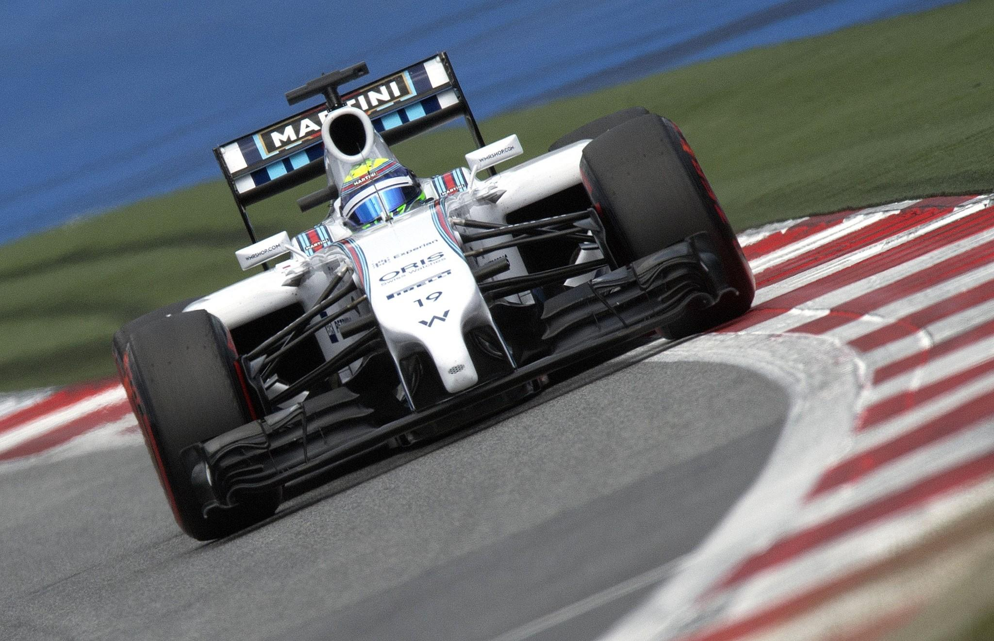 Williams' Brazilian driver Felipe Massa drives in the qualifying session of the Austrian Formula One Grand Prix at the Red Bull Ring in Spielberg, Austria on June 21, 2014.