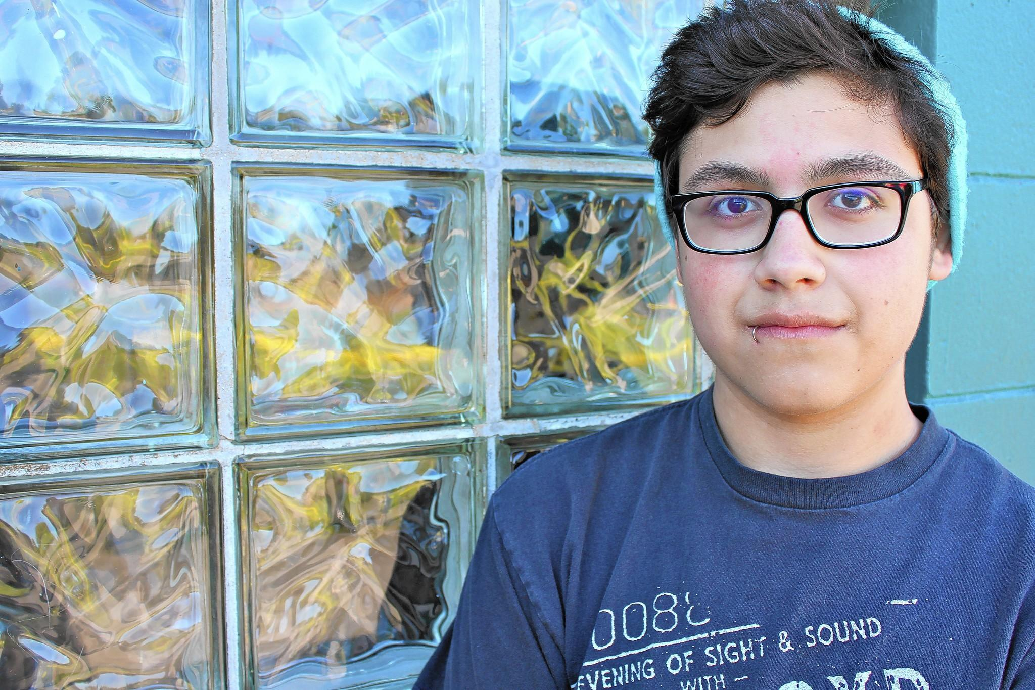 """NTHS Alfonso Gonzalez, 16, lives in Glencoe and is going into his junior year at New Trier. He said he remembers his transition into New Trier as a bit nerve racking. """"I was nervous going into New Trier because I only knew people from my community, Glencoe,"""" he said. """"It was a big change from freshman year to sophomore because it was a different school, a different campus. We were involved with older kids. It was just bigger."""""""
