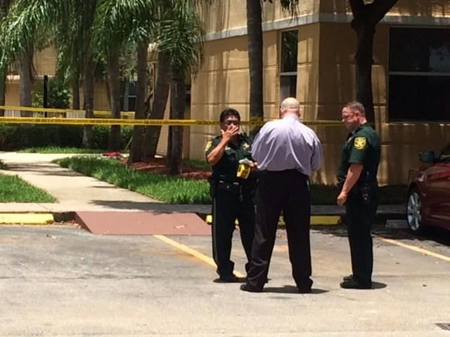 The Broward Sheriff's Office was investigating a shooting in the 300 block of E. Sheridan St. in Dania Beach on June 22, 2014.