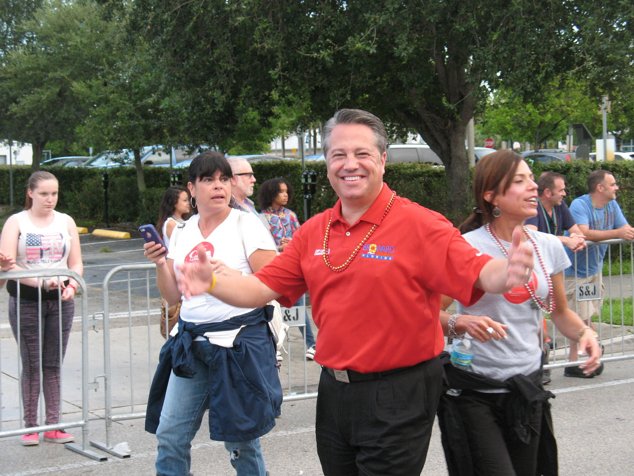 County Commissioner Chip LaMarca was a lone Republican marching in the gay pride parade in Wilton Manors on June 21, 2014. He was the only one of the nine county commissioners to participate. (Photo by Anthony Man/Sun Sentinel.)