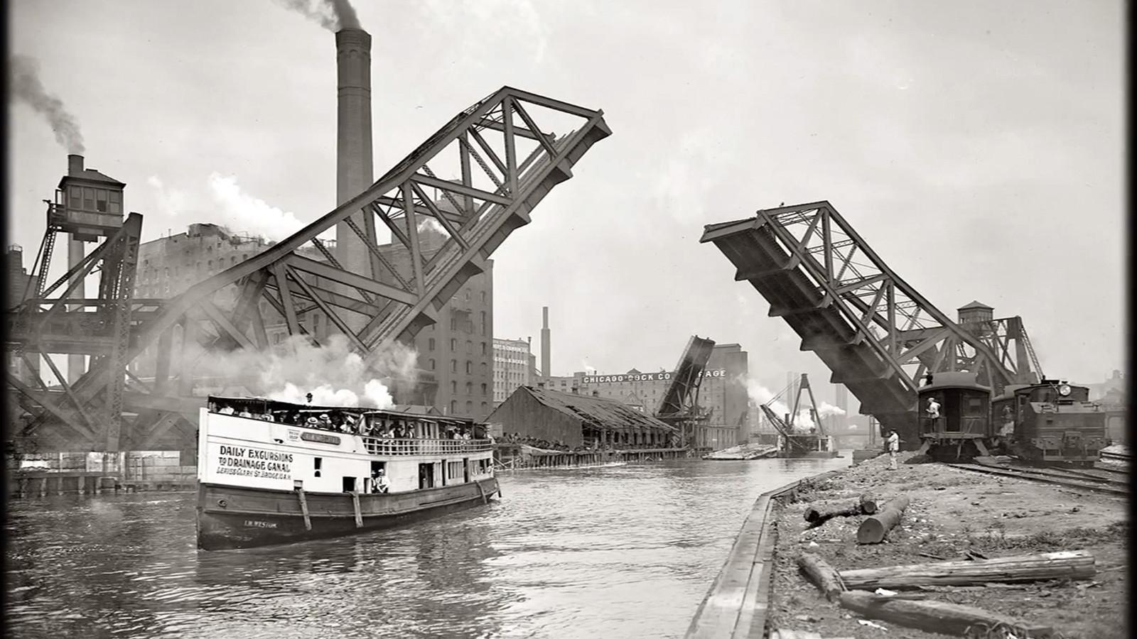 Reversing The Chicago River 1900 Chicago Tribune