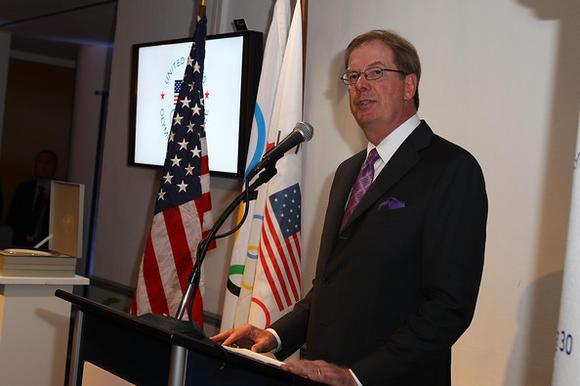 USOC chairman Larry Probst at USA House during the 2012 Olympics.