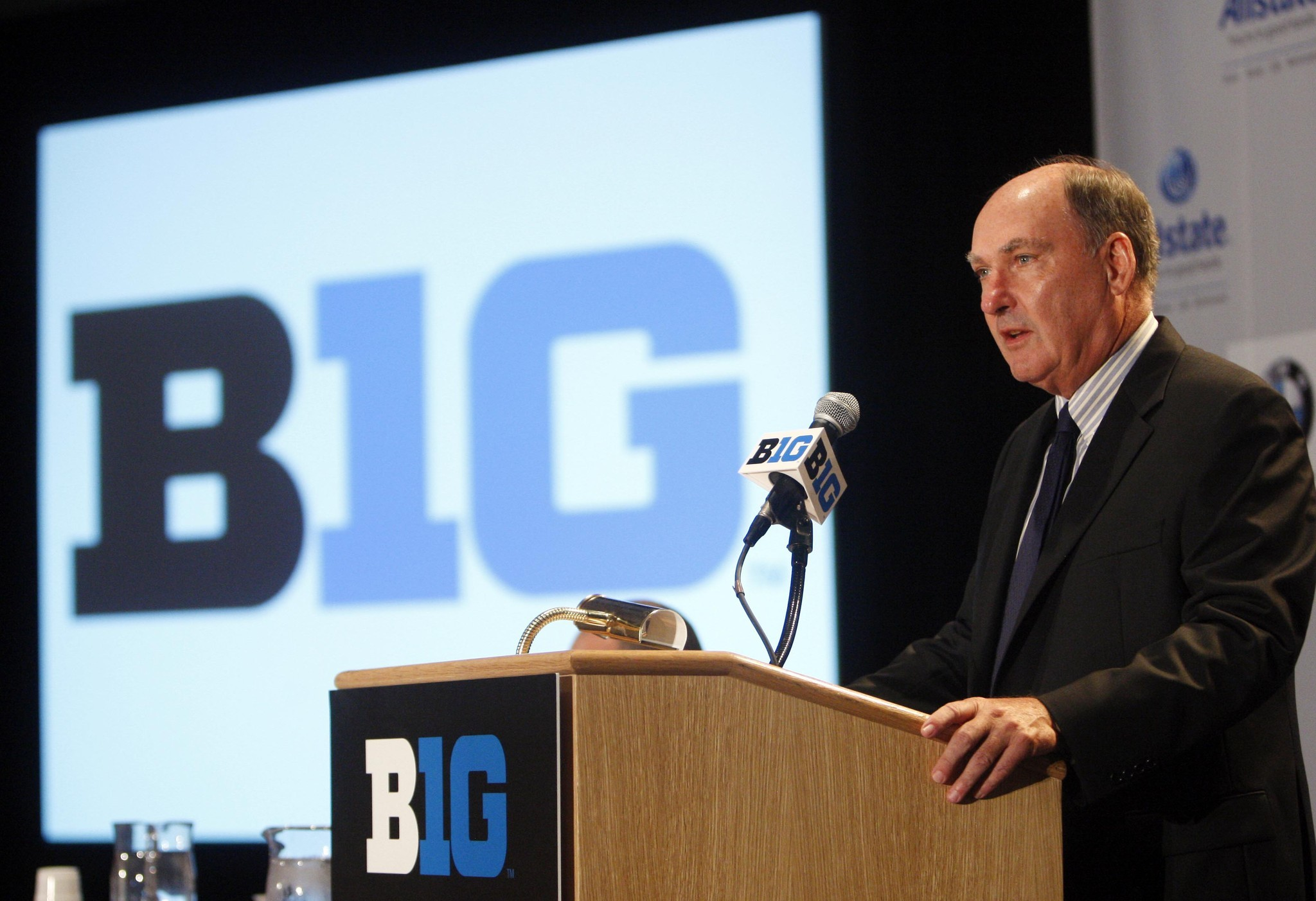 Big Ten commissioner Jim Delany during the 2011 Big Ten football media day at the Hyatt-McCormick Place.