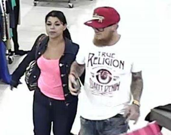 Sunrise Police are searching for a couple suspected of stealing designer watches from the Sawgrass Mills mall and pepper spraying security personnel to escape