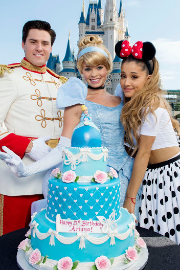 Ariana Grande Celebrates 21st Birthday At Disney World Orlando