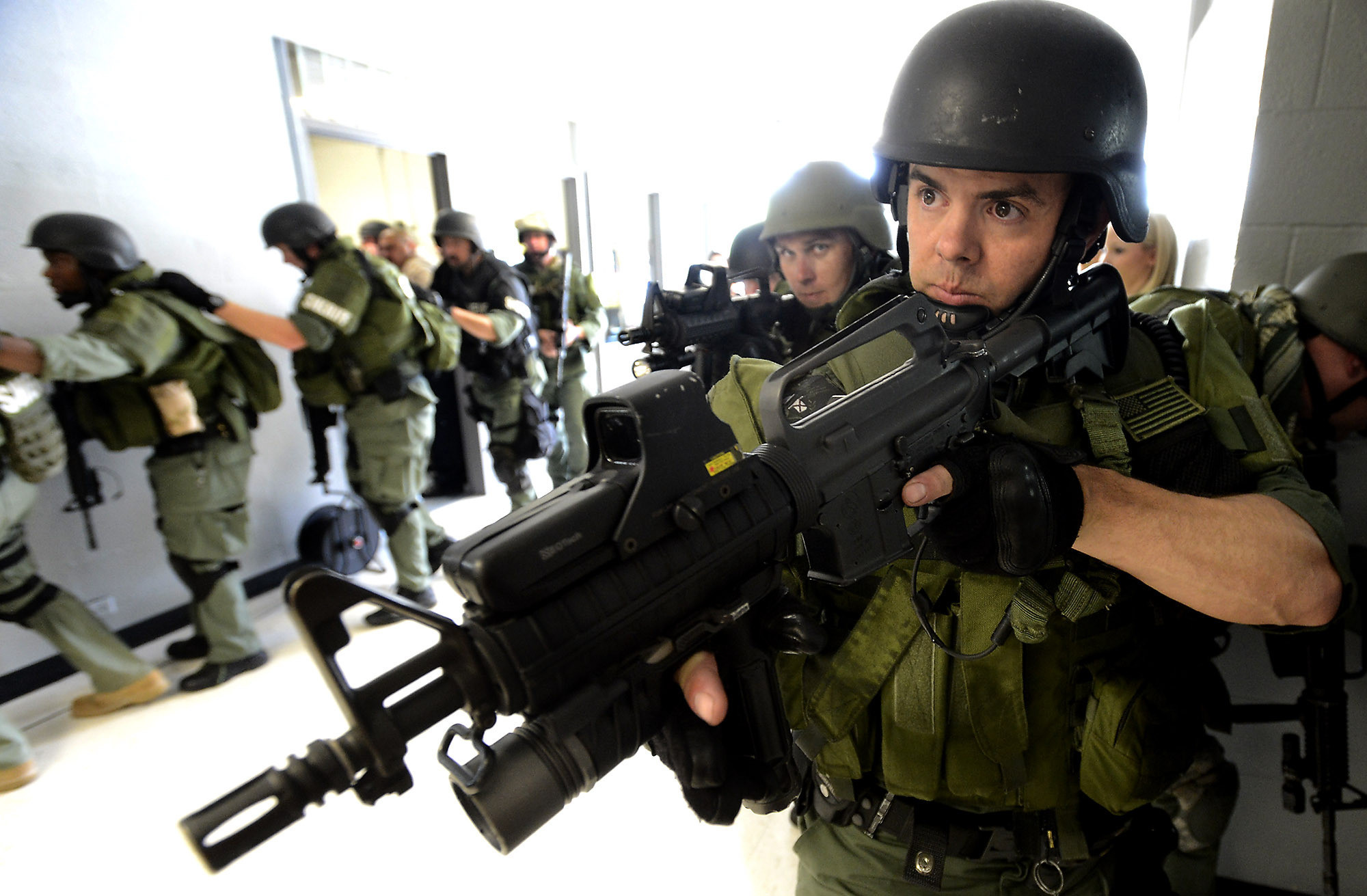 increased police militarization in local communities of the united states The increasing militarization of america's police forces: form of  communities  across the country, they created more specialized units trained to handle the   the drug enforcement agency and many other federal and local.