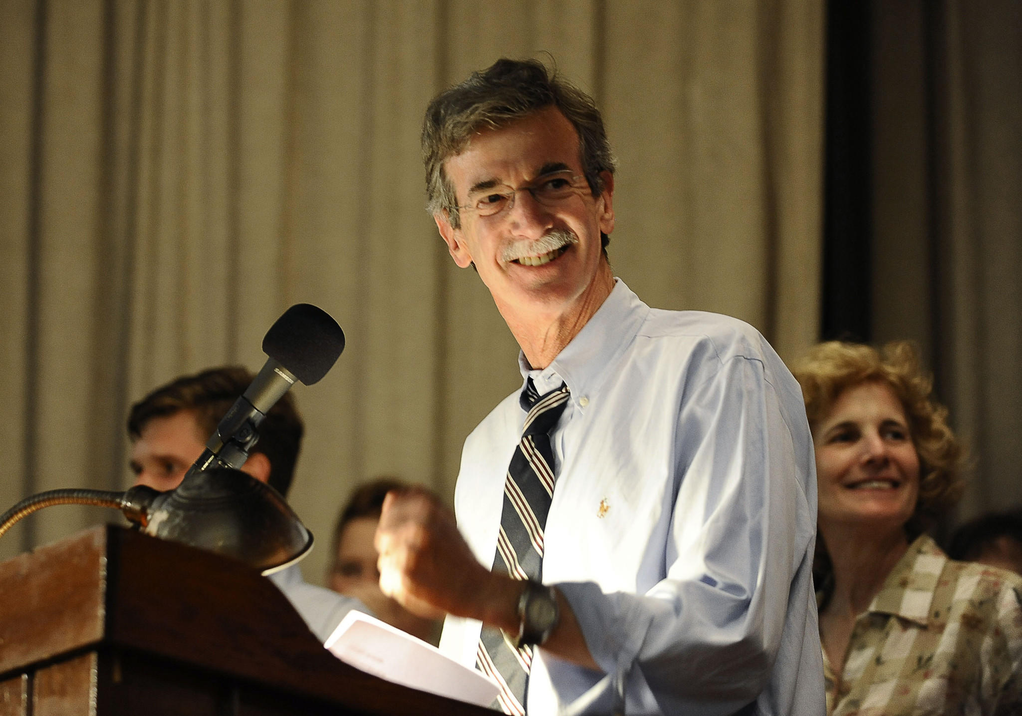 Brian Frosh speaks at his election night watch party in Chevy Chase.