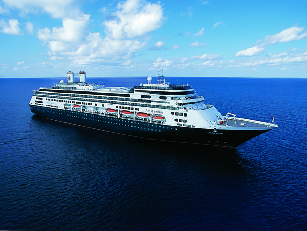 Holland America Line's ms Amsterdam cruise ship is set to depart Fort Lauderdale on Jan. 5, 2015 on a 114-day Grand World Voyage that will call at 45 ports in 25 countries on six continents.