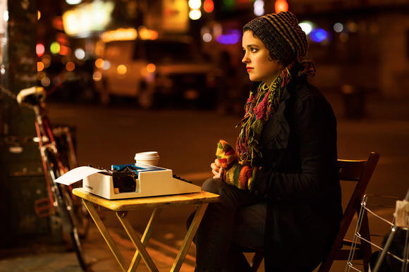 """Street poet Abi Mott in a scene from the documentary """"A Place of Truth."""""""
