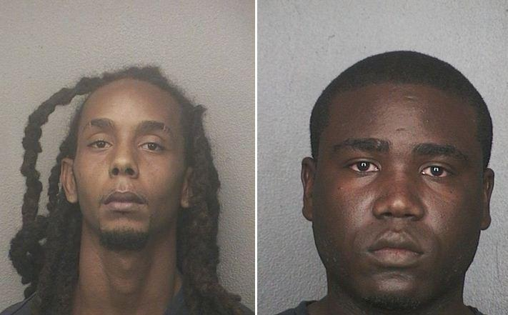Michael Anthony Dahl, 26, of Pembroke Pines, (left) and Owentz Charles, 24, of Sunrise, were arrested and accused of stealing up to 80 boxes of merchandise worth an estimated $150,000 from a T.J. Maxx store in Sunrise