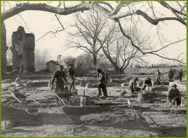 Digging near the Ambler House