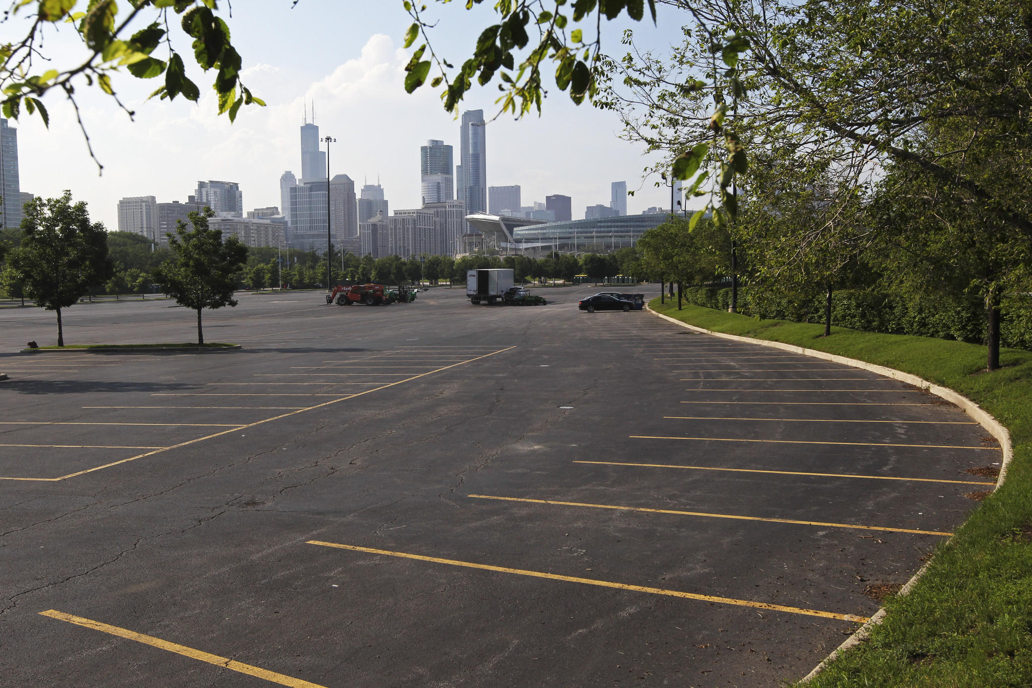 A parking lot near Soldier Field is the proposed site for the George Lucas museum.