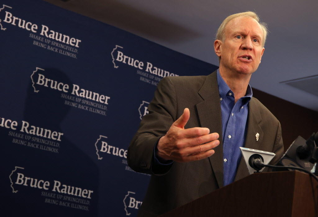 Republican governor challenger Bruce Rauner, seen here earlier this month, offered some ideas on business taxes today.