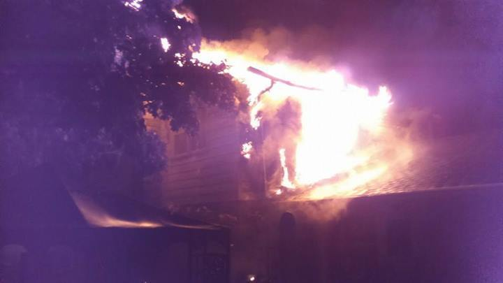 An image of the rear of the home on Fairway Drive.