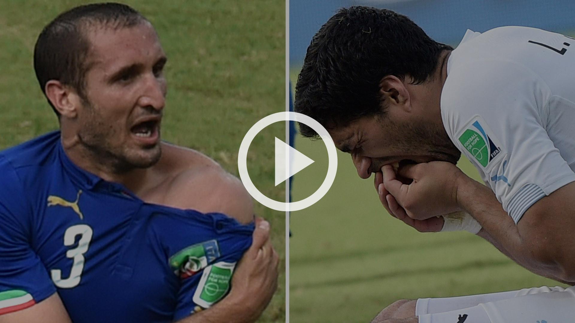 FIFA suspends Uruguay s Luis Suarez in World Cup biting incident