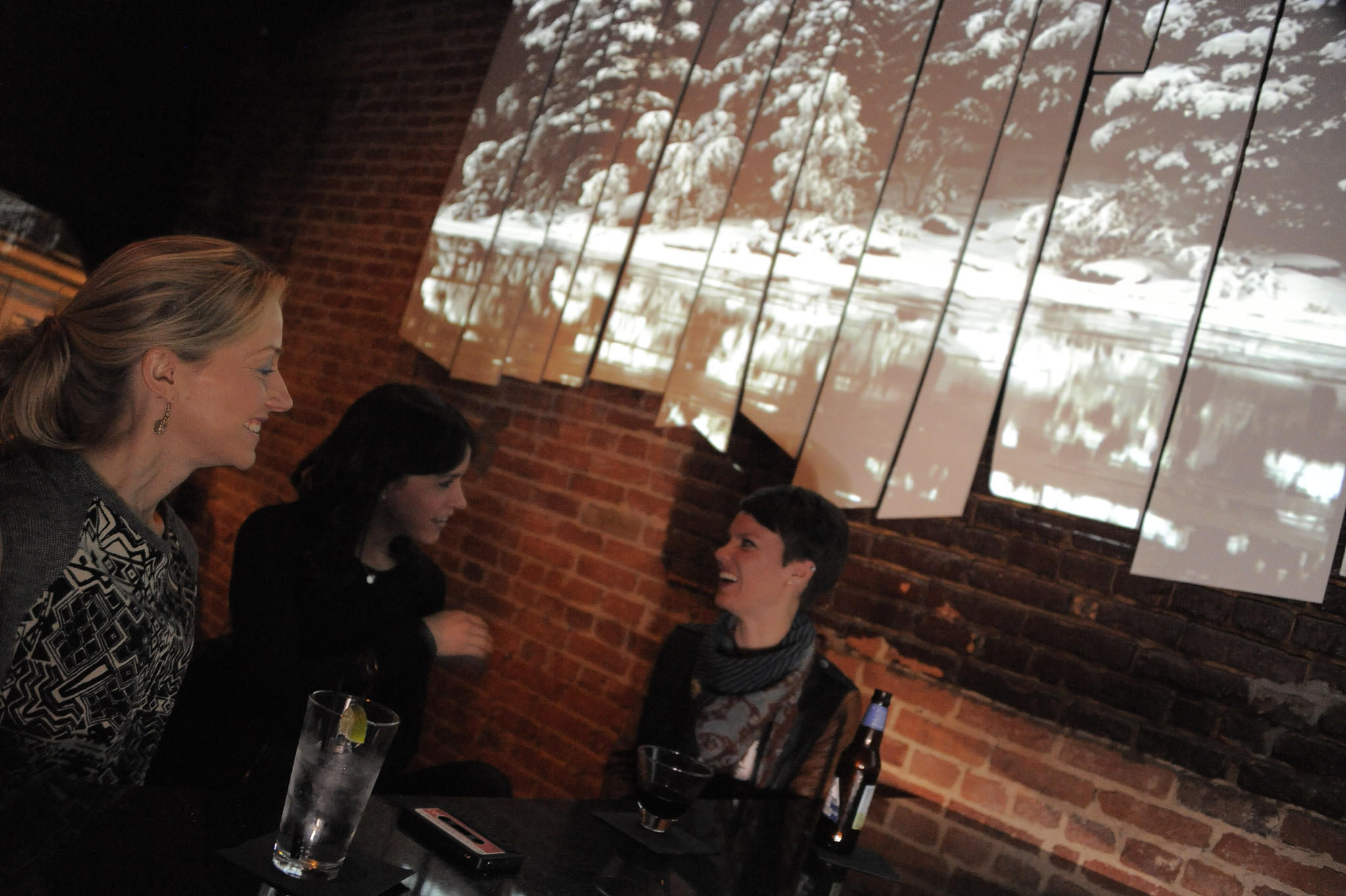 From left: Jamie Fienko, Brienna D'Angelone and Erica Stoney chat at Vale Tudo, which is now known as The Rockwell.