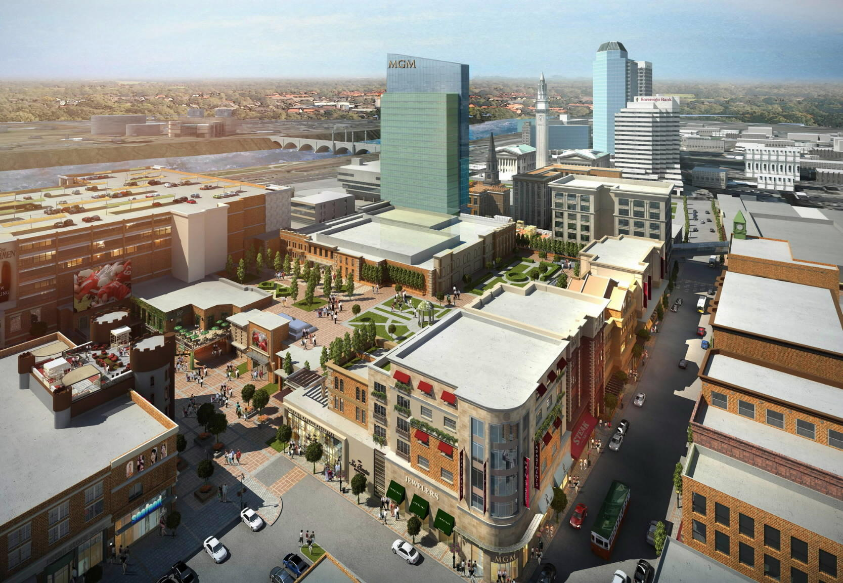 The proposed MGM casino planned for Springfield is seen in an artist's rendering.
