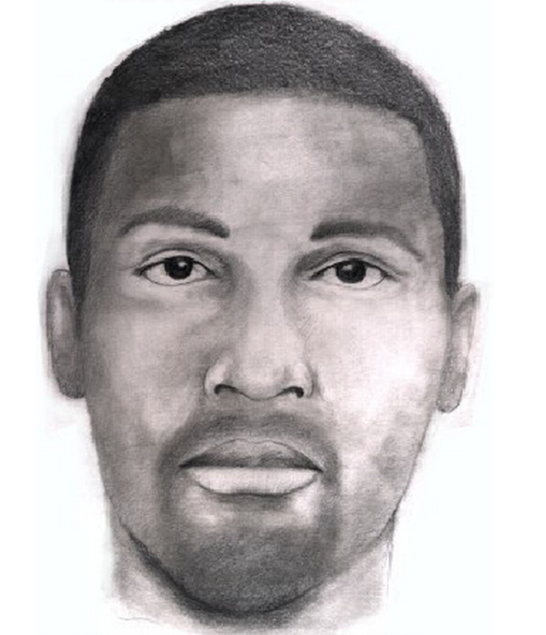 "Police are searching for the man depicted in this sketch. Baltimore police said the man is wanted for a sex offense that took place on May 19 in the 5600 block of Frankford Ave. in Northeast Baltimore. He's described as 5-foot-10 and approximately 160 pounds with a flame tattoo on his left hand with the letters ""MOB."""