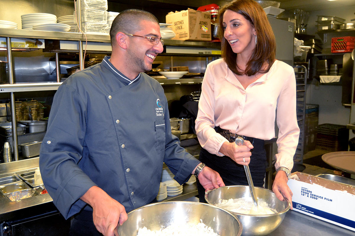Danielle Williams, owner, with Victor Franco, chef, at Oceans 234, in Deerfield Beach.