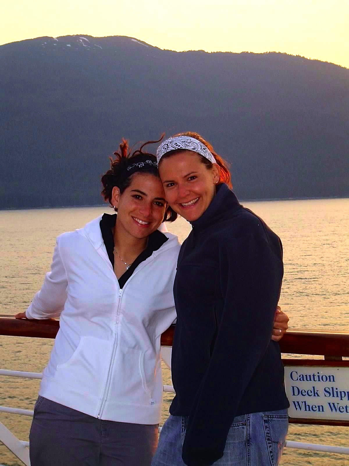 Amy Sadler, left, and Nikole Quasney in Alaska. U.S. District Judge Richard Young entered a temporary restraining order that requires the State of Indiana to recognize the August 2013 marriage of Sandler and her ailing spouse, Nikole Quasney, who was diagnosed with ovarian cancer in 2009.