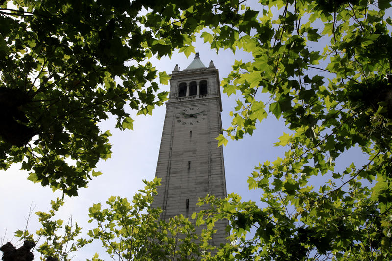 The Campanile, a.k.a. Sather Tower, looms over the campus at UC Berkeley. (Francine Orr / Los Angeles Times)