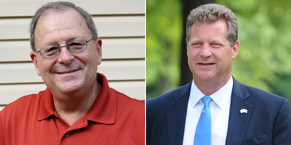 Democrat George F. Johnson IV (left) and Republican Steve Schuh are running for county executive in Anne Arundel County.