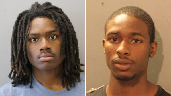 Booking photos of Demarco Bell and Shermiahh Butler (from left)