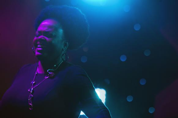 Jill Scott performs at the BET Experience at Staples Center on June 27, 2014.