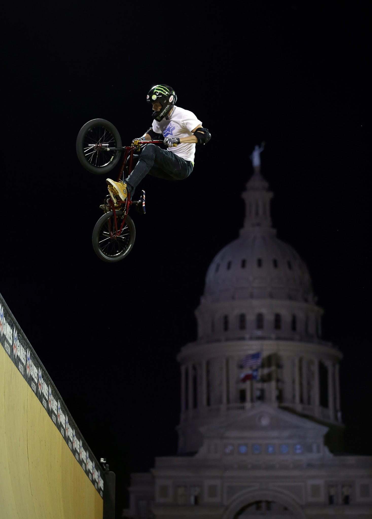 Jamie Bestwick of Great Britain competes in the BMX Vert finals at the X Games Austin on June 5 in Austin, Texas. Bestwick went on to win the competition.