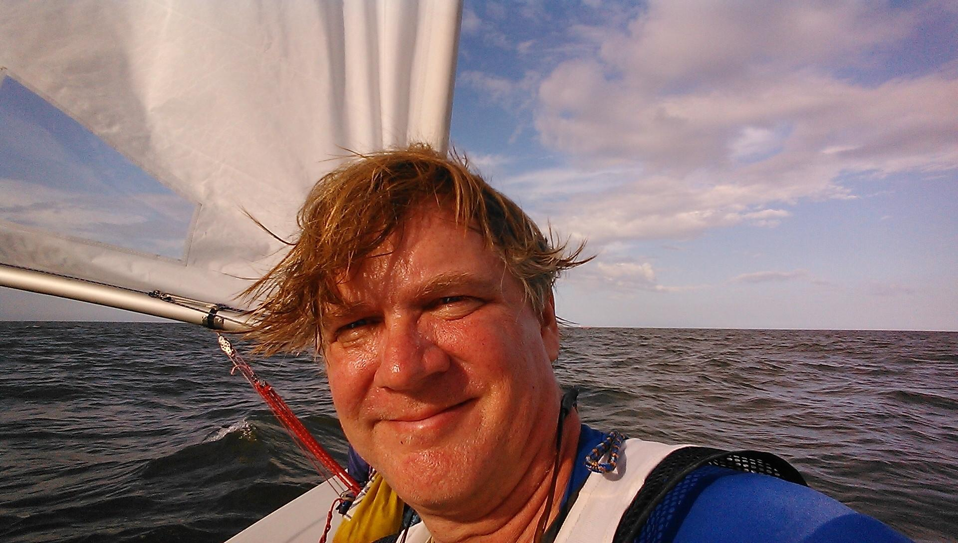 Robert Suhay is trying to set a world record for the longest distance sailed unassisted in a Laser dinghy.
