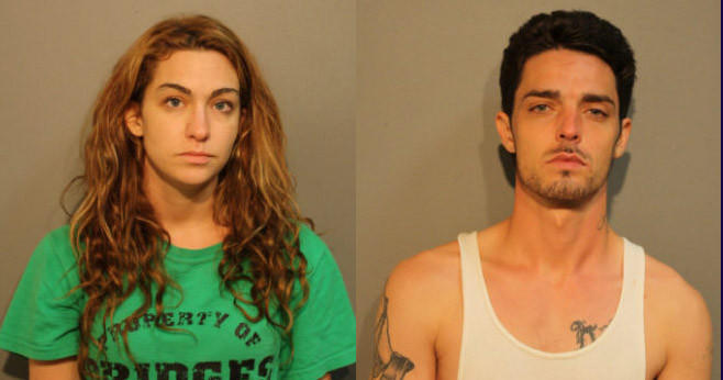 Rachel E. Angotti, 25, and Charles A. Messer, 28, are charged with shooting up heroin in a car in front of their 4-year-old daughter.