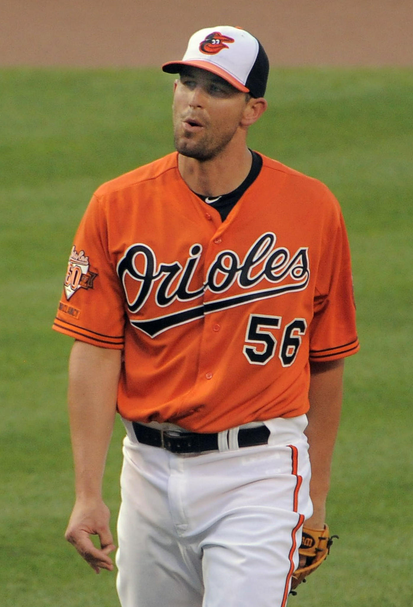 Darren O'Day reacts after striking out Tampa Bay's Evan Longoria in the ninth inning.