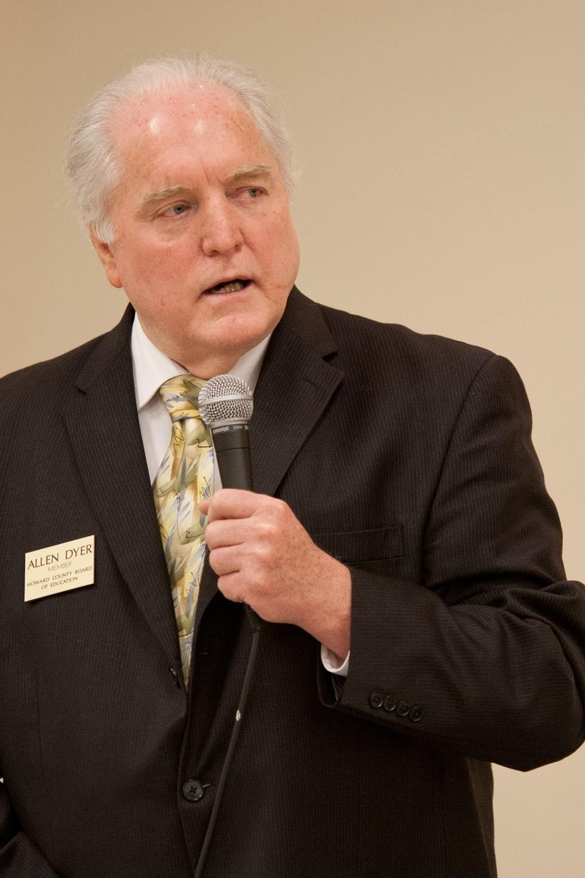 Pictured is Howard County school board candidate Allen Dyer.