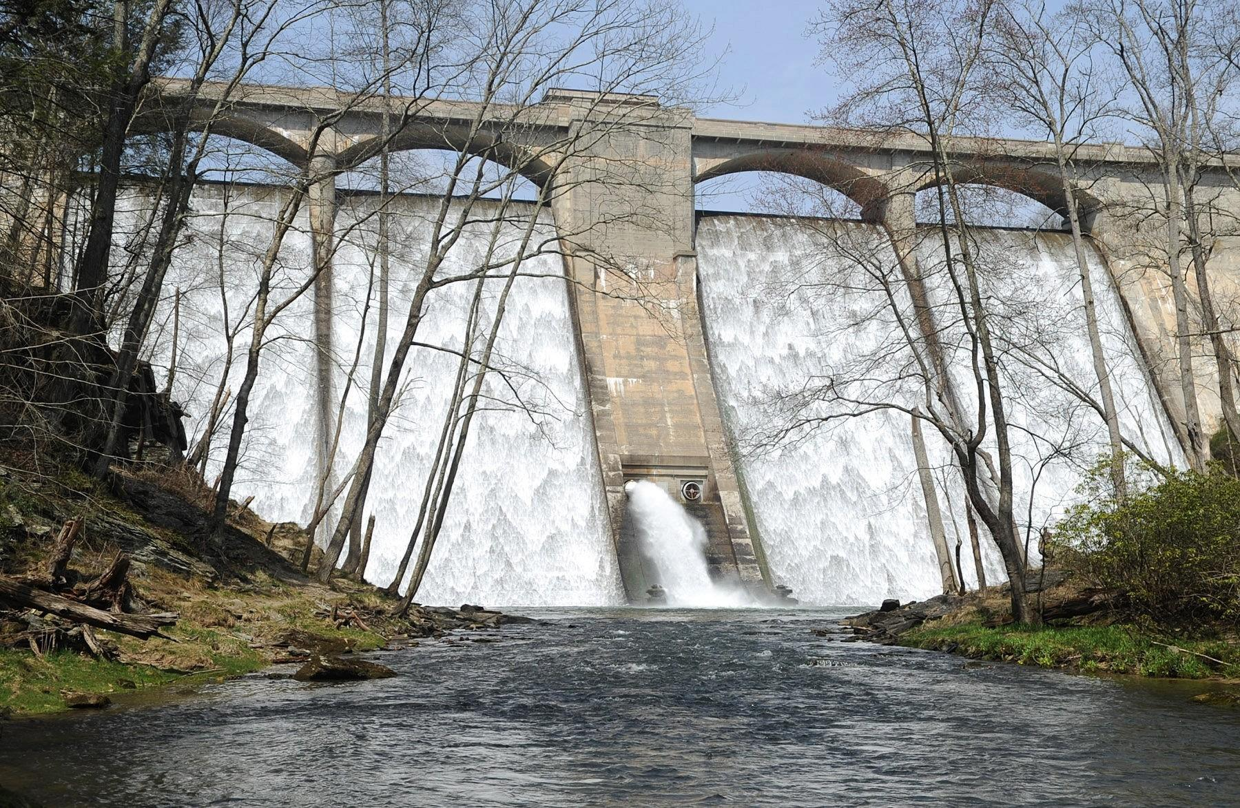 A view of Prettyboy Dam and the waters that flow into Gunpowder Falls in Parkton.