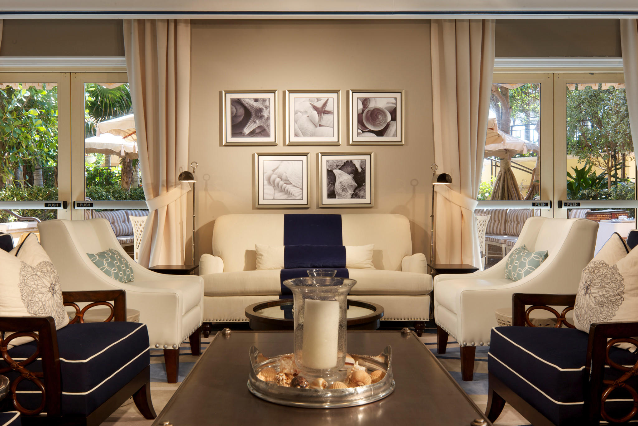 A view of the exclusive, members-only La Coquille Club room at Eau Palm Beach Resort & Spa in Manalapan. Fla.
