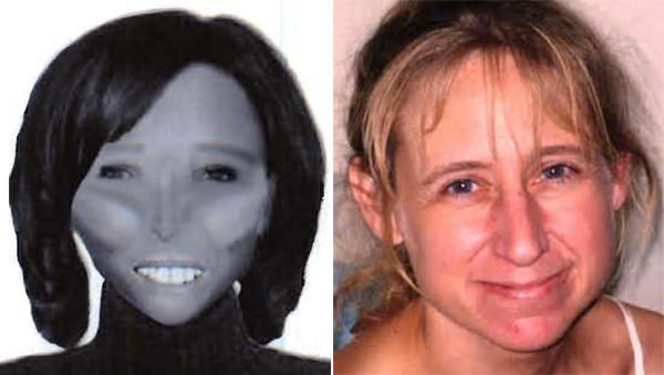 Police released a sketch of one of the women found near Lake Geneva and identified the other, right, as Laura Simonson of Farmington, Minn.