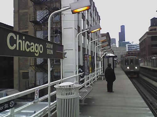 CTA Chicago Brown Line statio