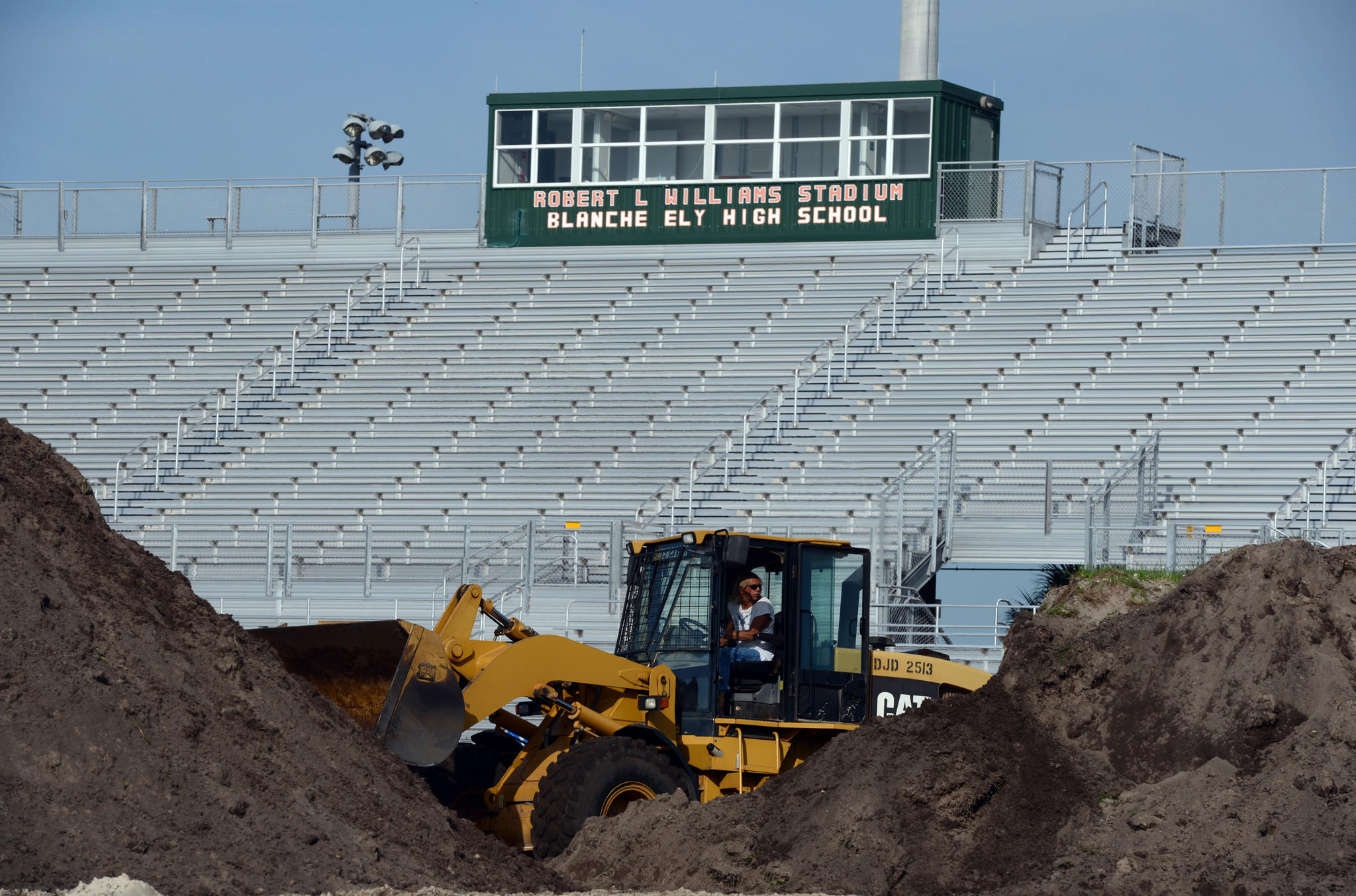 Work continues at Robert L. Williams Stadium at Blanche Ely High School.
