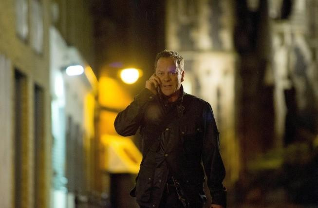"Jack (Kiefer Sutherland) chases after Navarro in ""24: Live Another Day."""