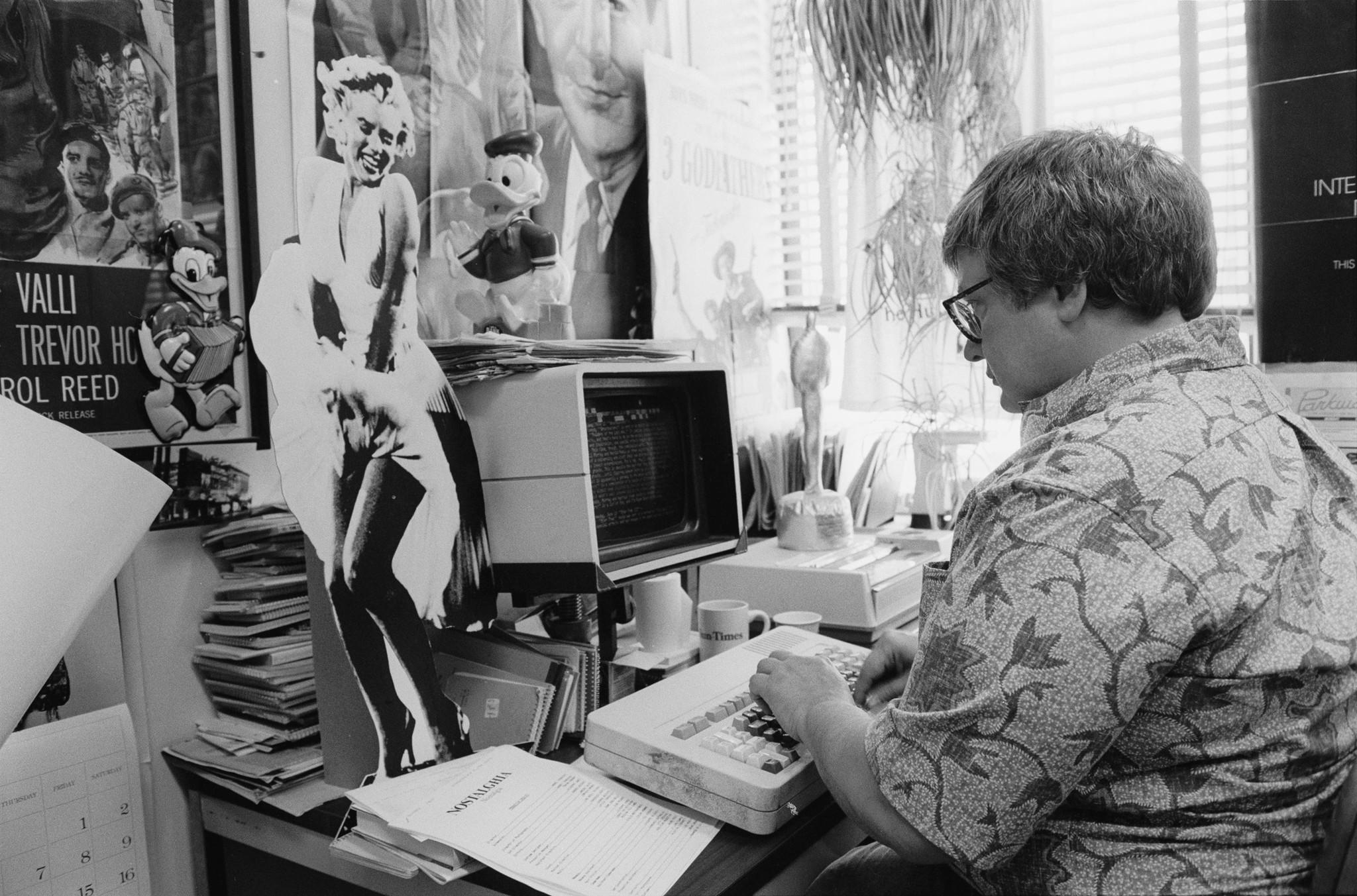 """Roger Ebert in 1984 as seen in """"Life Itself."""""""