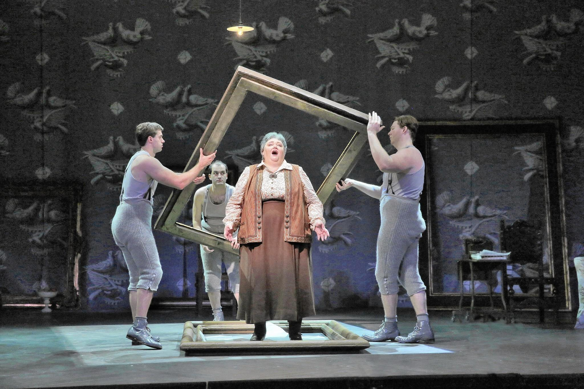 "Stephanie Blythe as Gertrude Stein in Opera Theatre of Saint Louis' 2014 production of ""Twenty Seven."""
