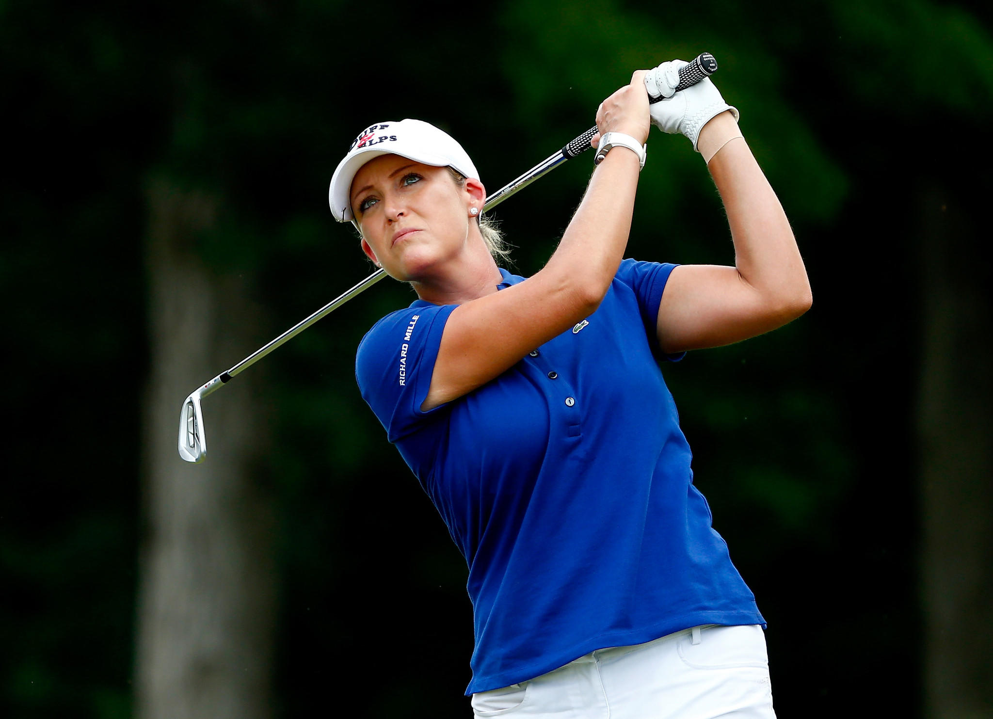 Cristie Kerr plays a shot during the final round of the Walmart NW Arkansas Championship last weekend.