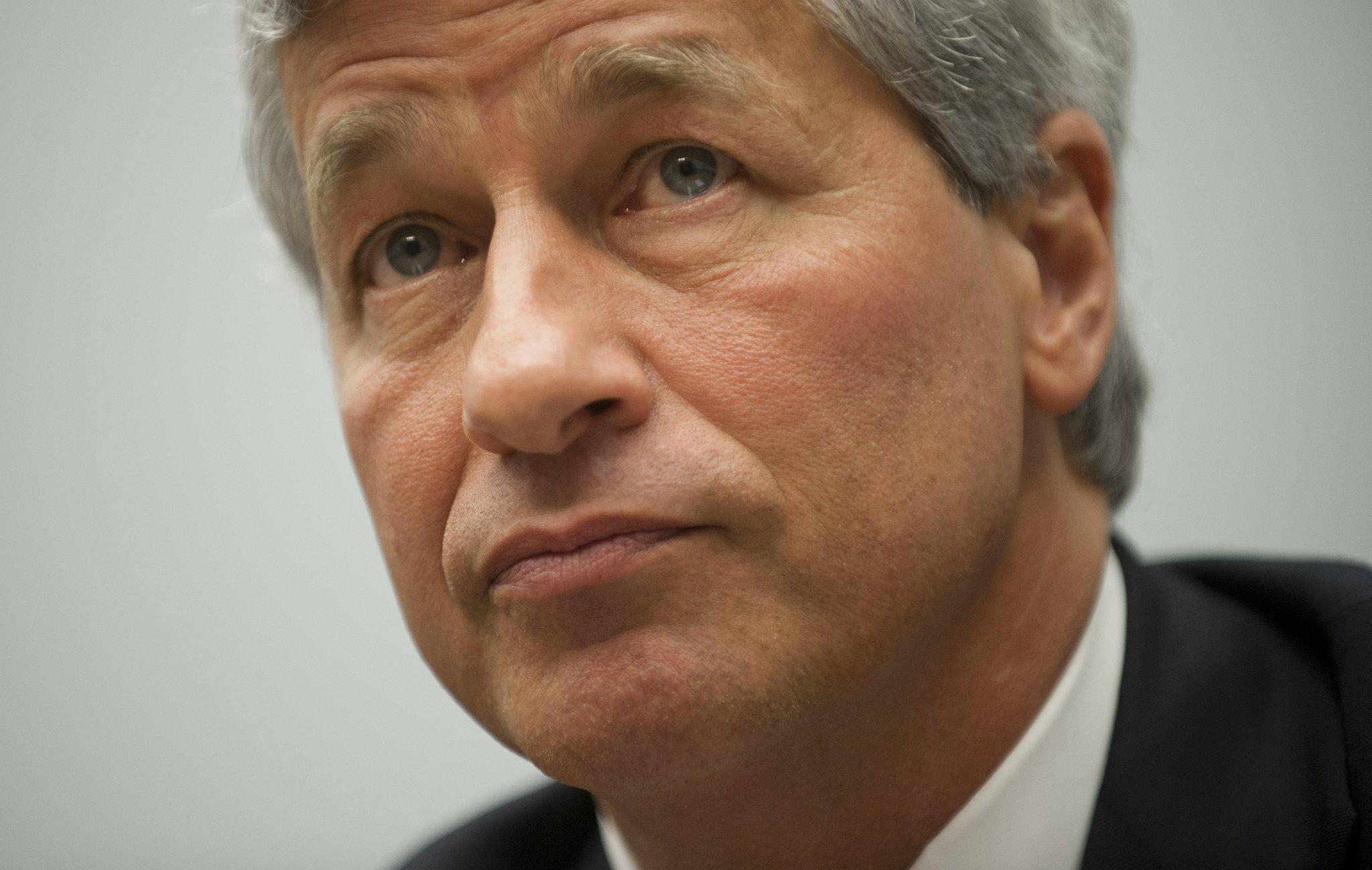JPMorgan Chase Chairman and CEO Jamie Dimon testifies during a US House Financial Services Committee hearing on Capitol Hill.