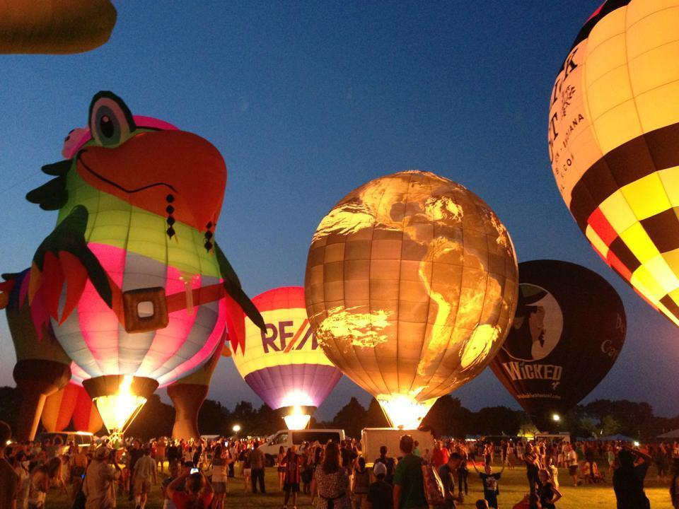 "You can choose from hundreds of outdoor fests this summer, but Lisle's Eyes to the Skies floats to the top of the pack thanks to dozens of hot-air balloons. Take the kids up for a tethered-balloon ride ($15-$20) or simply watch the balloons inflate in the evening before they launch the ""balloon glow."" On the ground, of course, there's food, music (including headliners Gin Blossoms) and kids' activities, plus an Independence Day parade and fireworks display.When: Early-bird balloon launches, 5:30 a.m.; balloon glow, 8:15 p.m. See site for detailed schedule.Where: Community Park, Illinois Highway 53 at Short Street, Lisle (eyestotheskies.org)Cost: $7, free for kids 7 & under"