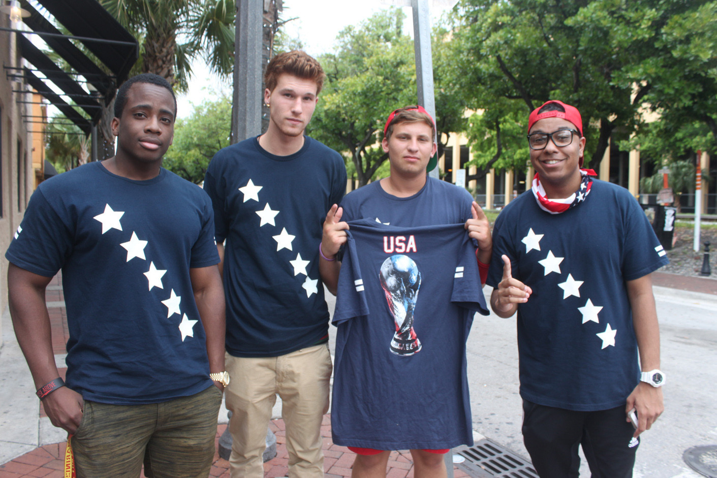 World Cup fans in South Florida - Pictured of World Cup fans in South Florida
