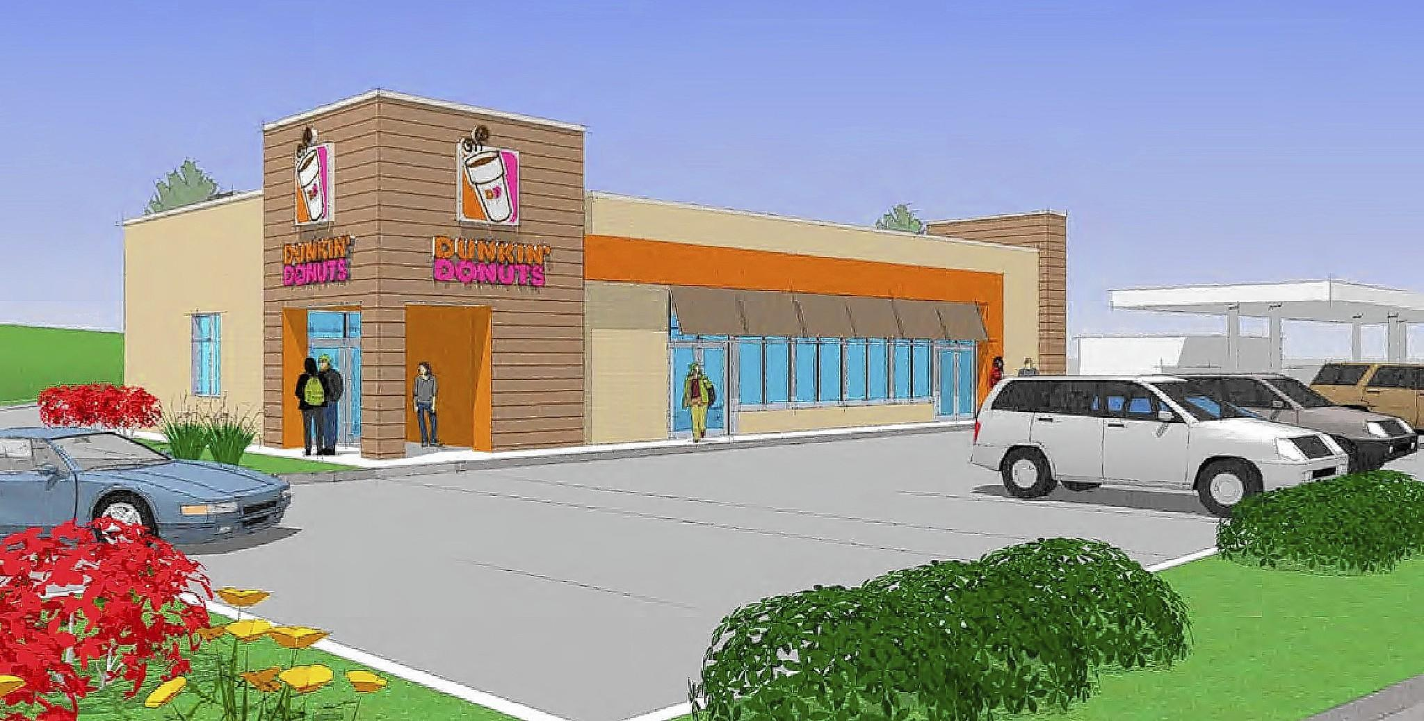 A rendering shows a new Dunkin' Donuts location near the intersection of Willow and Shermer roads in Glenview.