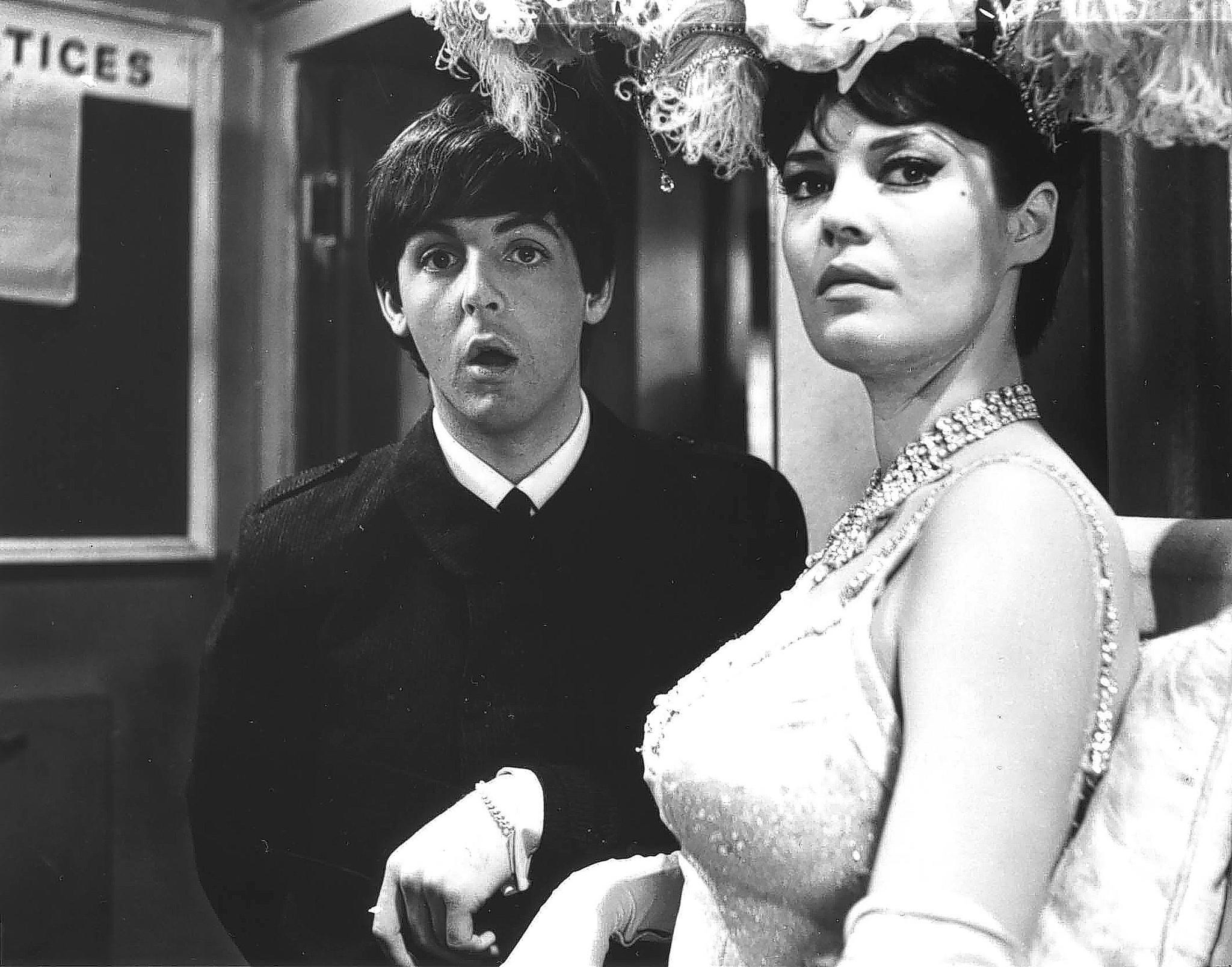 "Paul McCartney in a scene from ""A Hard Day's Night."""