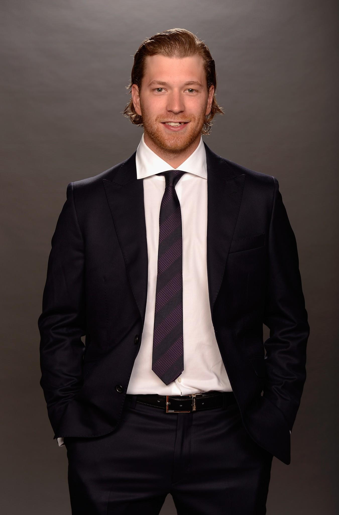 Claude Giroux of the Philadelphia Flyers poses for a portrait during the 2014 NHL Awards at Encore Las Vegas.