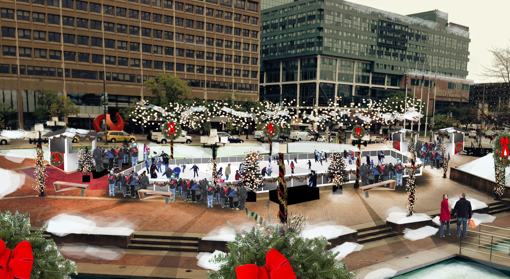 outdoor ice skating rink planned for inner harbor tribunedigital