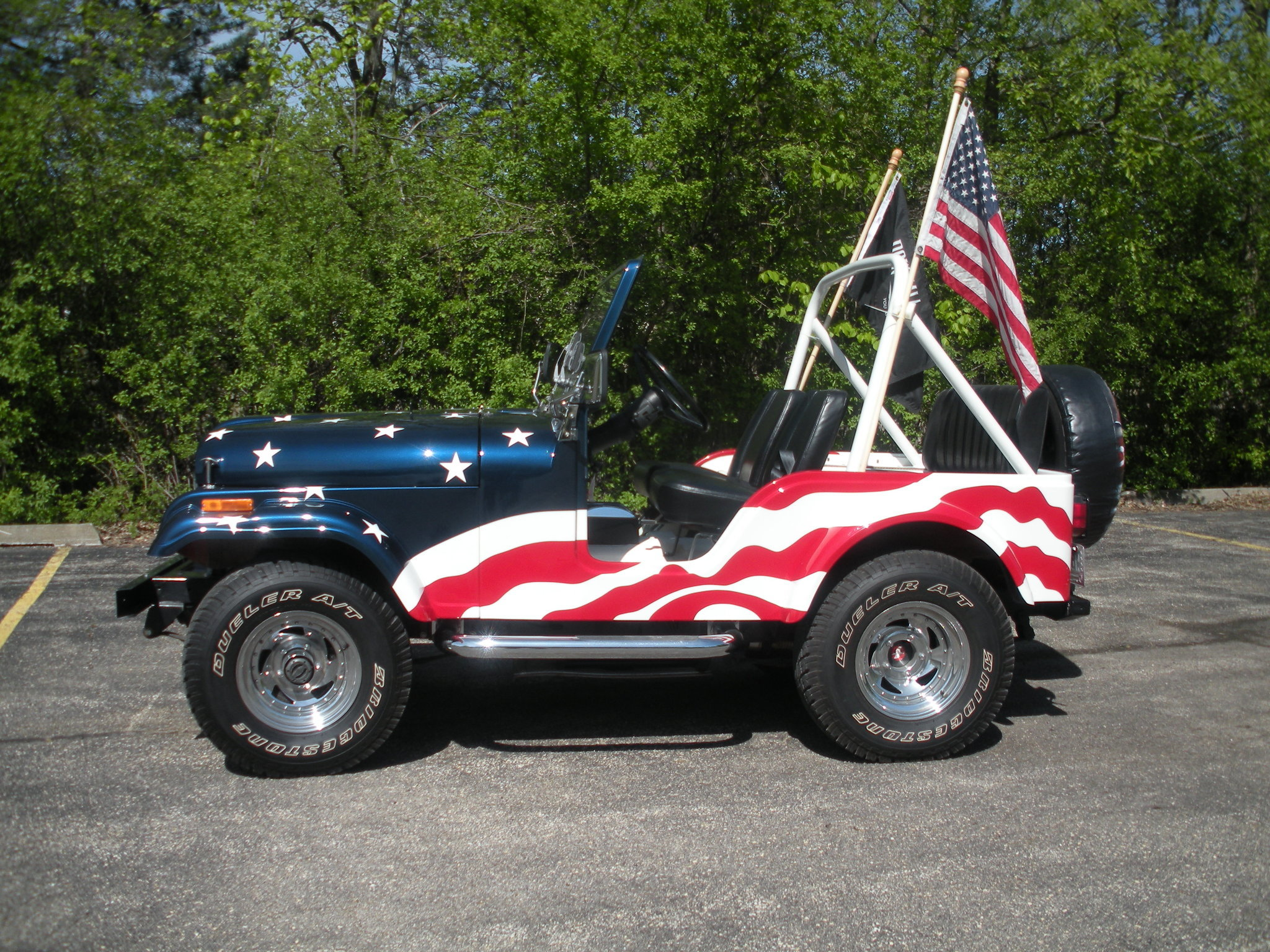 Stars and Stripes Jeeps color Independence Day